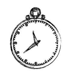 monochrome blurred silhouette of simple stopwatch vector image