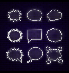 neon speech bubbles vector image