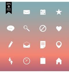 organizer icon set vector image