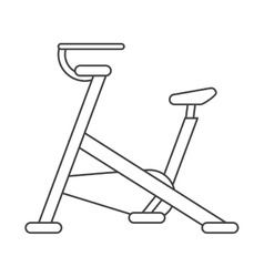 outline stationary bicycle machine gym sport vector image