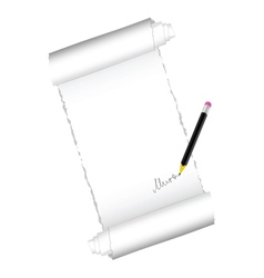 paper roll with black pen vector image