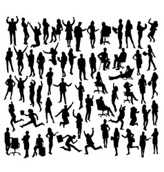 people activity silhouettes vector image vector image