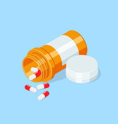 pill bottle medical capsules container vector image