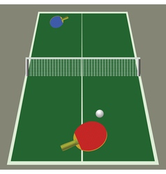 Ping pong game vector