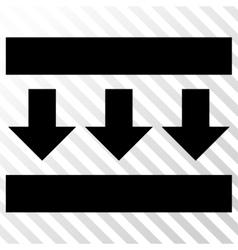 Pressure Down Icon vector image