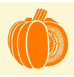 Pumpkin Isolated Drawing vector image