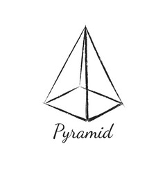 Pyramid geometric shape vector