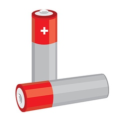 Red batteries vector image