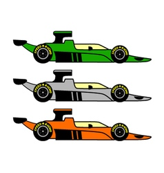 Retro racing car vector