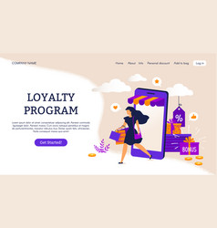 reward program landing page e-commerce concept vector image