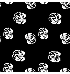 Rose seamless pattern Vintage background with vector image