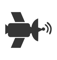 Satellite antenna waves icon vector image