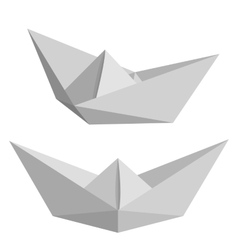 Set of paper ships vector image