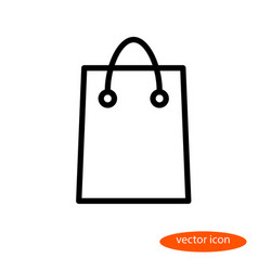simple linear image of a shopping bag for vector image