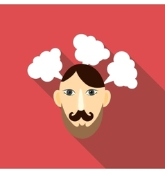 Thinking icon flat style vector