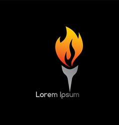 Torch fire logotype vector
