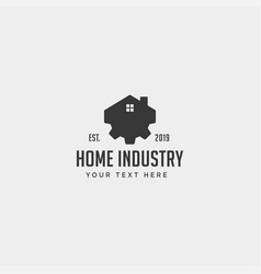 town industry logo design home factory icon vector image