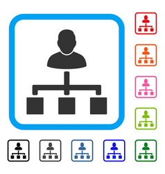 user hierarchy framed icon vector image