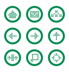 website and internet 9 icons vector image