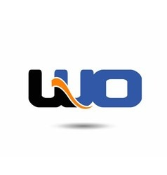 WO initial company group logo vector