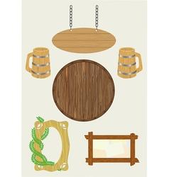 Wooden subjects vector
