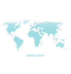 world map blue waves on white background vector image
