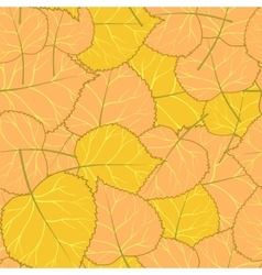 Yellow autumn pattern of leaves vector