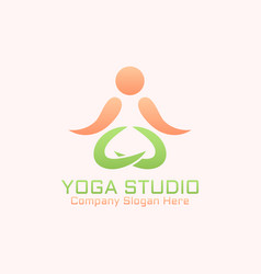 yoga studio isolated abstract logo template vector image