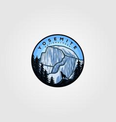Yosemite logo badge vintage design vector