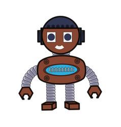 cartoon robot design vector image
