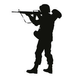 Aiming soldier Warriors Theme vector image vector image