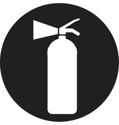 Fire extinguisher isolated on a white background vector image