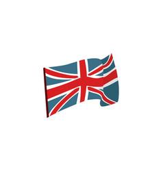 flat style waving union jack british flag vector image