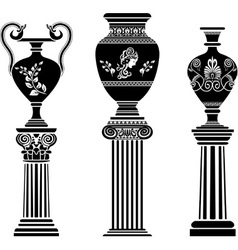 Greek vases 2 vector image vector image