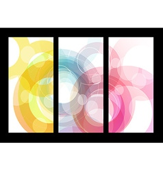 Set of abstract colorful circle backgrounds for vector image