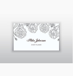 business card template design element can be vector image vector image