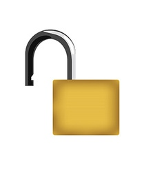 Opened padlock vector image vector image