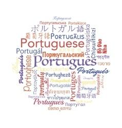 Portuguese language collage vector