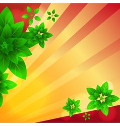 rays and leaves vector image vector image