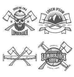 Set of vintage lumberjack design elements vector image