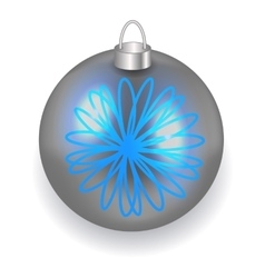 Silver Christmas ball reflecting light New Year vector image