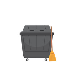 trash dumpster isolated on vector image
