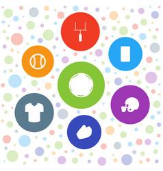 7 league icons vector