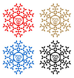 70 off discount sticker snowflake 70 off sale vector image