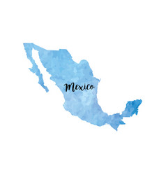 Abstract mexico map vector