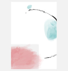 Abstract minimalist poster set collection vector