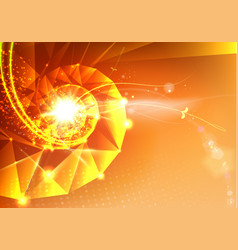 abstract science design with polygons vector image