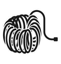 air hose icon simple style vector image