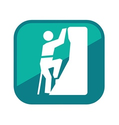 Alpinist man logo vector