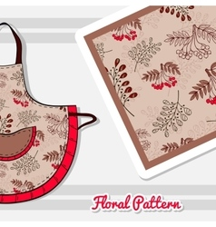 Apron With Red Berries vector